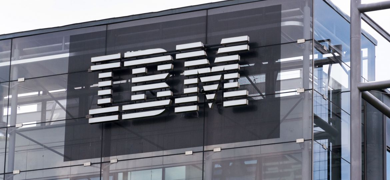 PRAGUE, CZECH REPUBLIC - MAY 10 2018: IBM company logo on headquarters building on May 10, 2018 in Prague, Czech Republic.