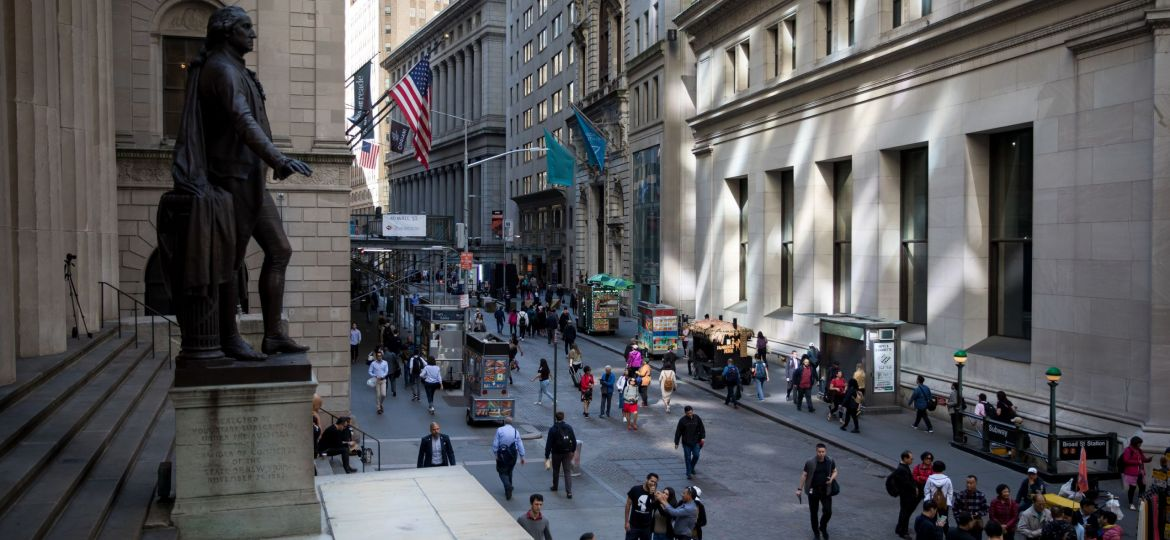 Trading On The Floor Of The NYSE As U.S. Stocks Pare Gain As Rocky Week Nears End