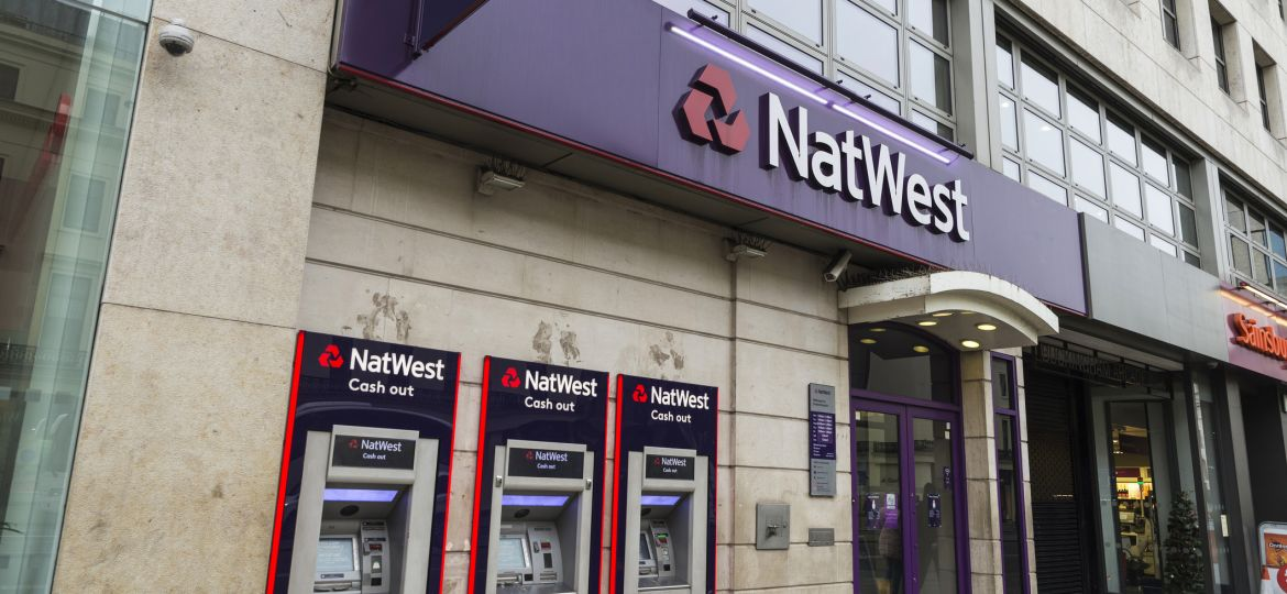 Bank branch of Natwest Bank in London, England, United Kingdom