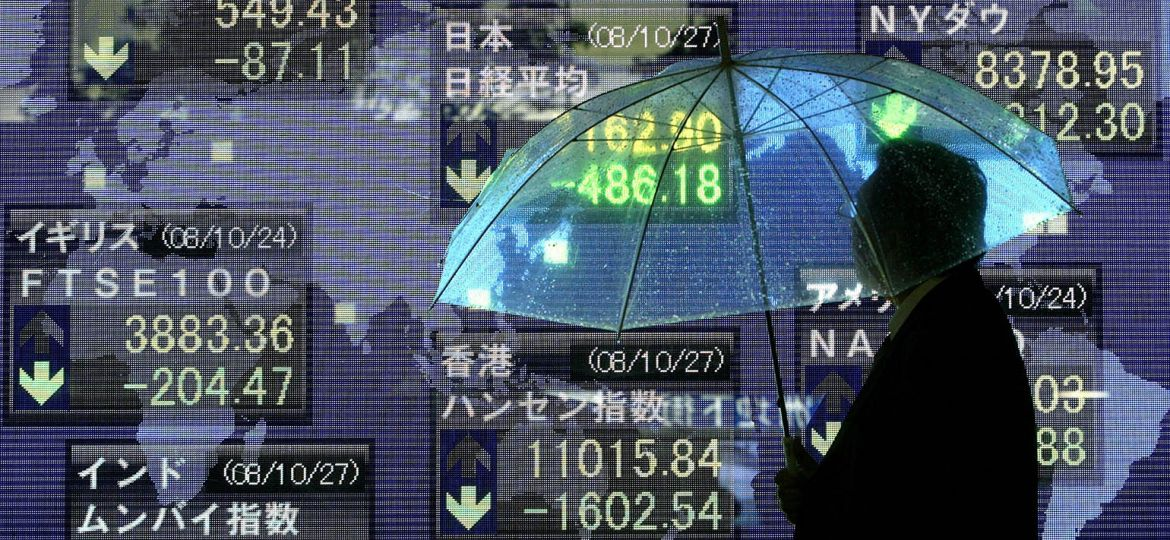 Tokyo Stocks Record Lowest In 26 Years
